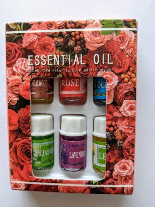 Set met 6 miniflesjes essentiële olie